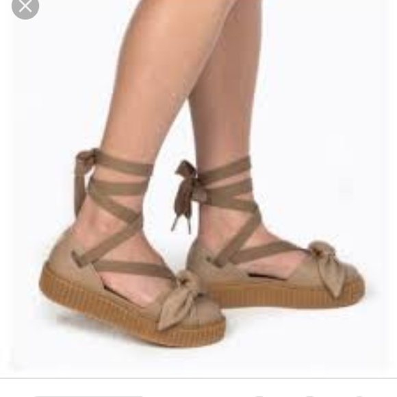 on sale 5516d bcf2a Fenty X Puma By Rihanna Creeper Bow Sandal - Natur NWT
